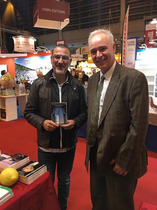 Omero Marongiu-Perria et Philippe Lemarchand au salon du livre